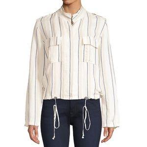 """Rails """"Rowen"""" linen blend striped light jacket"""